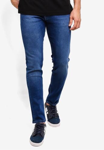 BOSS 海軍藍色 刷破牛仔褲 847B1AAFE22FB2GS_1