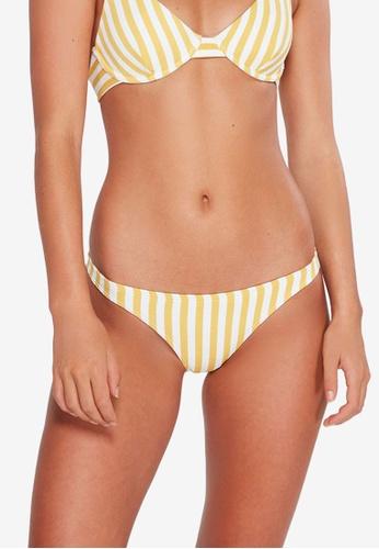 Billabong yellow Cassy Stripe Tropic Bikini Bottom AB36DAA55EA356GS_1