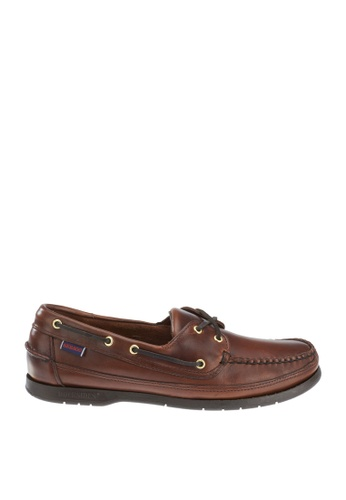 Sebago brown Schooner Boat Shoes SE328SH66UCBPH_1