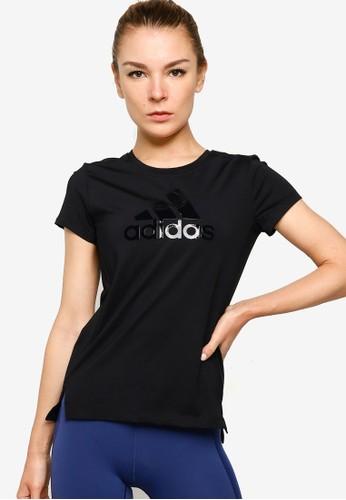ADIDAS black glam on bos logo tee 2F473AA115733DGS_1