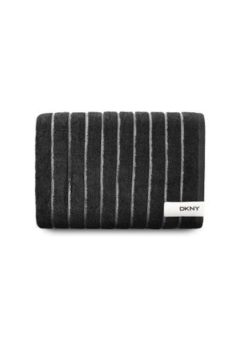 Dkny black DKNY Brooklyn Black Bath Towel. 0121BHLBDB52B3GS_1