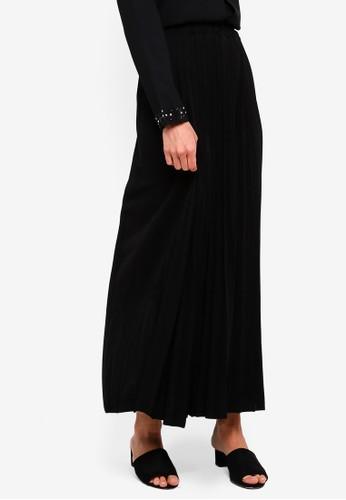 BYN black Pleated Maxi Skirt C03C2AA7518CDDGS_1