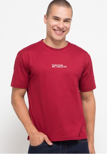 D&F red T-Shirt Together We Create E751BAA4F0EEFDGS_1
