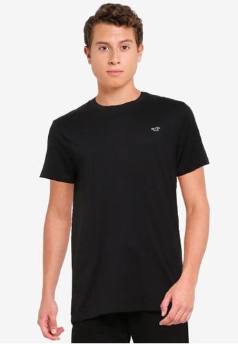 Hollister black Crew Core T-Shirt CC4DCAACF9611EGS_1