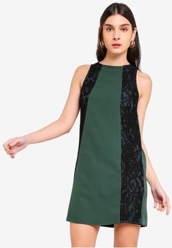 ZALORA 綠色 蕾絲洋裝 FE840AA83685D0GS_1