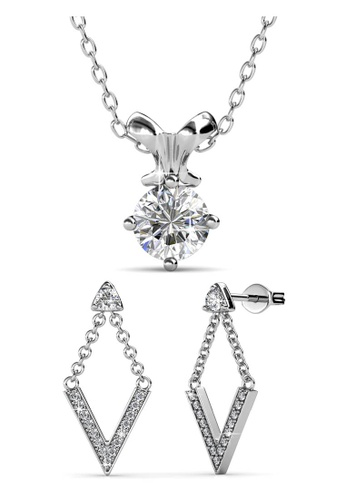 Her Jewellery silver Swarovski® Crystals - Mystique Venus Set (18K White Gold Plated) Her Jewellery HE581AC0RBPIMY_1