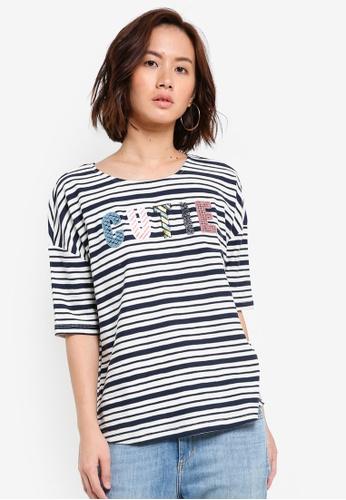 Esprit white Half Sleeve T-Shirt ES374AA0RHA1MY_1