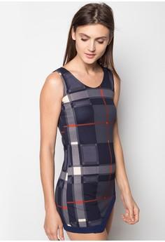 Dress with Asymmetrical Hem