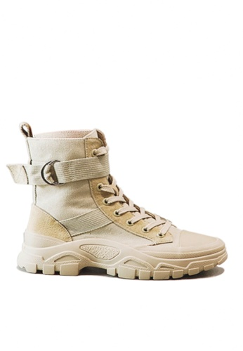 Twenty Eight Shoes beige Stylish Pig Suede Mid Boots VB19066 41ABASH414A958GS_1