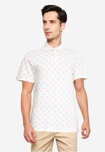 Jack & Jones white Hagan Short Sleeve Polo Shirt EAC93AAA5DC182GS_1