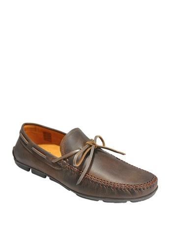 Sebago brown Hugo Tie Driving Shoes 6BF89SH263C914GS_1