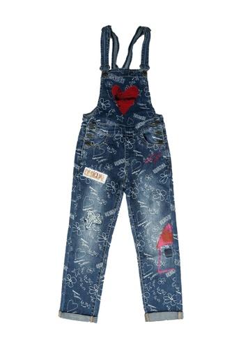 Desigual blue Denim Wash Dungarees 29622KA95F229AGS_1