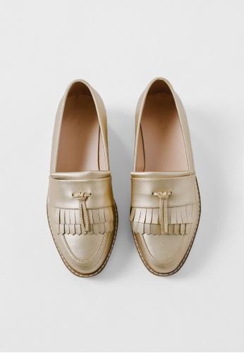 Love Bonito gold Leadelle Fringe Loafers LO655SH0SRWUMY_1