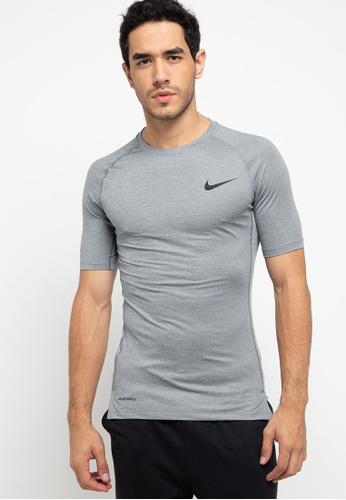 Nike grey Men's Pro Short-Sleeve Top 5AECAAA1393874GS_1
