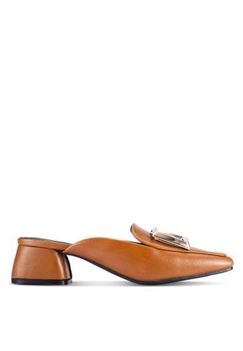 Alfio Raldo brown Slip On Mule Heels AL803SH0R9PUMY_1