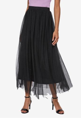 Vero Moda black Eve Mesh Skirt 37147AA4479D93GS_1