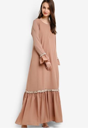 Najjah brown Ija Dress NA225AA66NJPMY_1