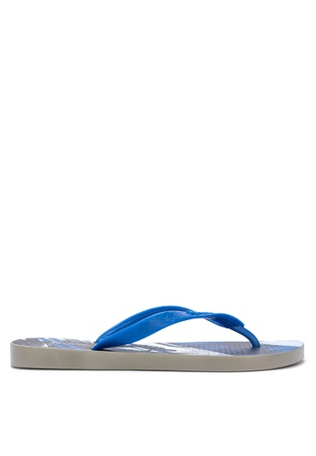 Ipanema grey and blue Clas Urbana Masc Flip Flops CB15CSHEF79B9DGS_1