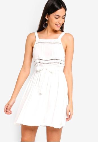 ZALORA white Trim Dress AD868AA9065390GS_1