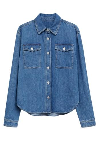 MANGO KIDS blue Pocket Denim Overshirt 235F2KAE5DCAEAGS_1