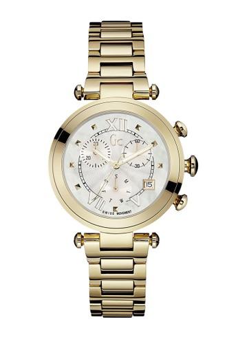 GC Watch gold GC Guess Collection Jam Tangan Wanita - Gold White -  Stainless Steel - eb1cbe738b