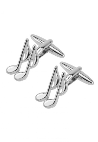 CUFF IT silver Musical Bass Clef Cufflinks CU047AC77BUOHK_1