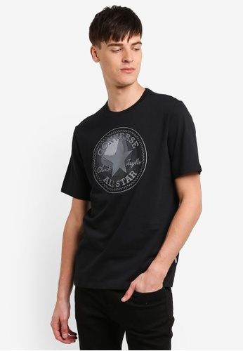 Converse black Dimensional Layer Chuckpatch T-Shirt CO302AA0RZZBMY_1
