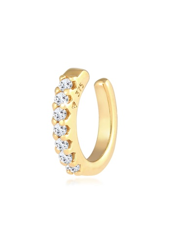 ELLI GERMANY white Single Ear Cuff Gemstones Earring BC3E5AC855106EGS_1