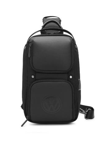 Volkswagen black Men's Chest Bag / Sling Bag / Crossbody Bag 2D5B6AC4457CA3GS_1