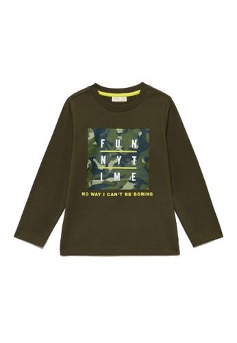 OVS green T-Shirt With Camouflage Print 4F5B0KA36DB689GS_1