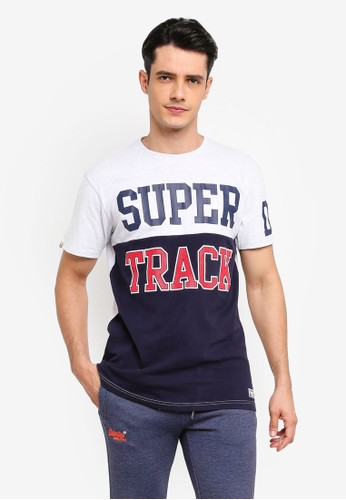 Superdry navy Super Stacked Oversized Tee E640FAAFF0FE26GS_1