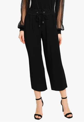 Forever New black Petite Jen Relaxed Pants BAC5DAA1BB06F0GS_1