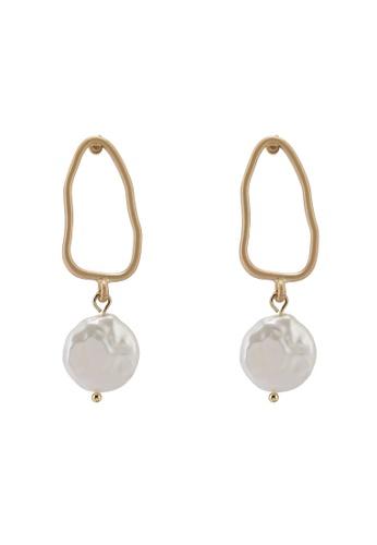 Saturation gold Grace Pearl Drop Earrings D5BB1AC43048E2GS_1