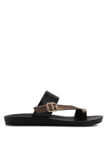 Noveni black Strappy Sandals E0BA8SH2B38781GS_1