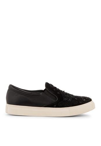 Minelli black F51 101 Studded Leather Slip on Sneakers - Unai MI352SH0FJT7SG_1