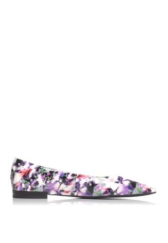 Joy & Peace purple Printed Pointed Toe Ballet Flats JO458SH14TZXHK_1