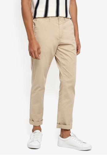 J.Crew brown Garment Dyed Stretch Pants D4B5DAAFA13EFEGS_1