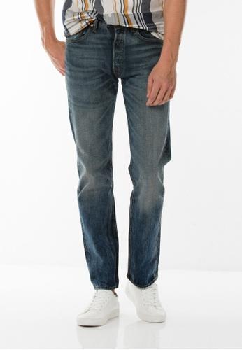 Levi's blue 501® Original Fit Stretch Jeans LE843AA0GFYCSG_1