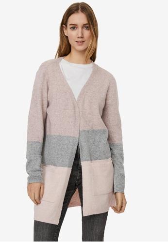 Vero Moda pink Dina Open Block Cardigan 6FC2DAA42F8DECGS_1