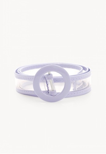 Pomelo purple Round Buckle Clear Belt - Purple 9FB95AC17C7526GS_1