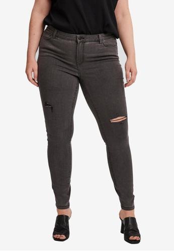 Vero Moda black Plus Size Ludy Slim Fit Jeggings 2F51EAA8BF4412GS_1