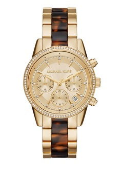 9516c450128 MICHAEL KORS gold Ritz Chrongraph Ladies Watch MK6322 269E9AC775CA6CGS 1