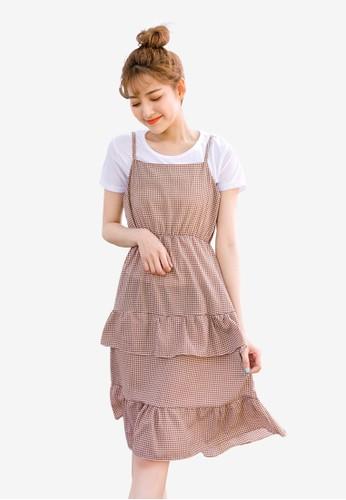 Tokichoi pink Ruffled Slip Dress 6C154AA88622D8GS_1