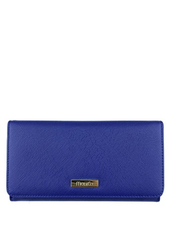Mel&Co blue and navy Faux Leather Long Wallet BD482AC90D17A7GS_1