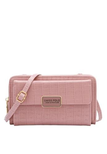 Swiss Polo pink Ladies Sling Flap Purse D9CFAAC5D19804GS_1