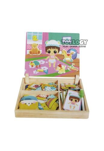 Toylogy multi Mainan Anak Kayu Magnetic Wooden Puzzle Drawing Board Baby Change Bayi 07871THECBC7E1GS_1
