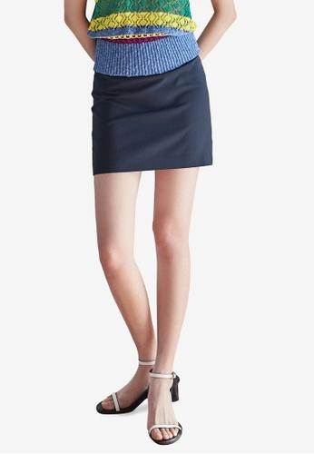 NAIN navy A-Line Mini Skirt 515E8AABF62CAAGS_1