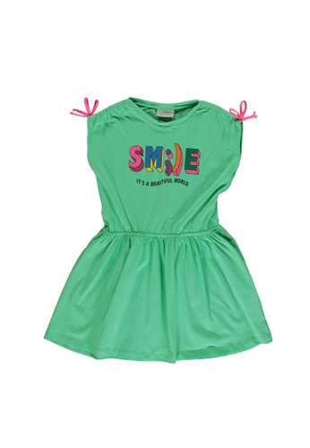 LC Waikiki green Printed Sequins Dress A76F8KAF77F114GS_1