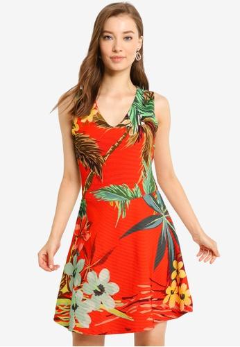 Desigual red Memphis Dress 9BBB6AA6BF2BD5GS_1
