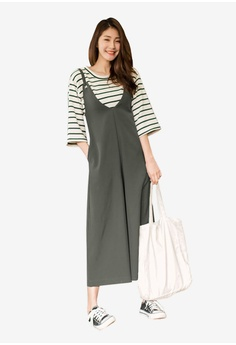 ec420b3b3f86 Tokichoi grey Oversized Pinafore Jumpsuit 87883AA18AB8A5GS 1